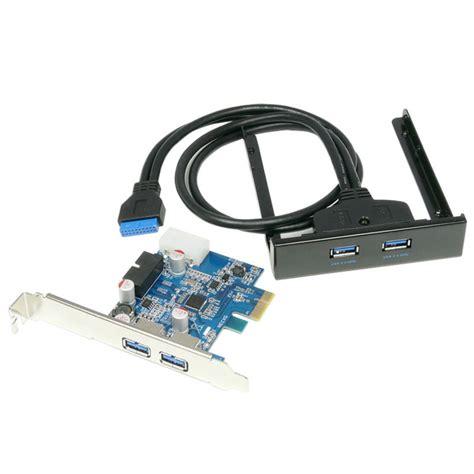 Pci E Usb 3 0 1 4 port usb 3 0 pcie pci express card adapter 20pin to 2 port usb3 0 hub 3 5 floppy bay