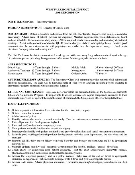 Icu Rn Description by Icu Rn Description Resume Resume Ideas