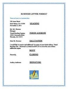 Business Letter Inside Address Title Business Letter Format This Business Letter Format Shows That There Are 6 Parts To A Business