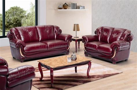 burgundy leather sofa living room furniture burgundy leather sofa set thesofa