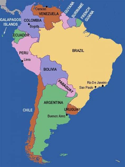 map  south america showing rio de janeiro rio grande