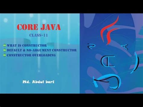 laravel tutorial for beginners bangla bangla core java tutorial 11 constructor concept