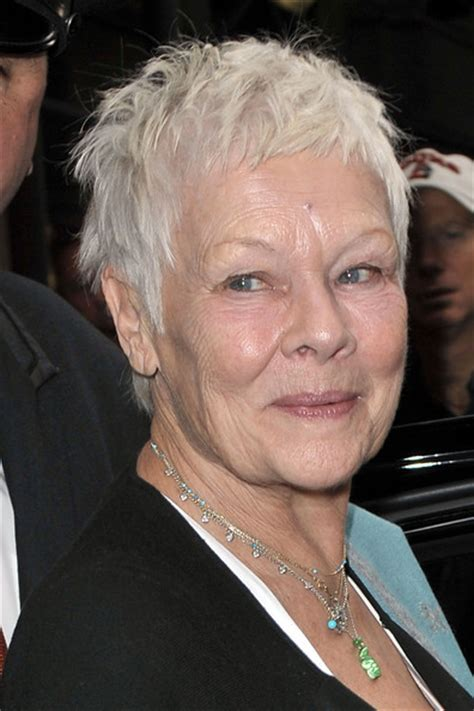 judi dench hairstyle front and back of head judy dench hairstyle front and back of head short