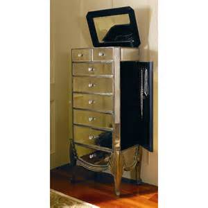 Jewelry Armoire Mirrored Bassett Mirror Collette Jewelry Armoire With Mirror