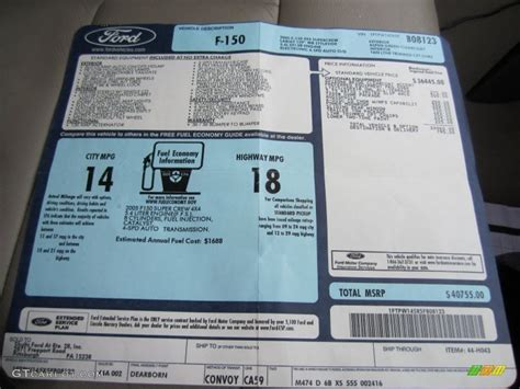 Ford Window Sticker by 2011 Ford F150 Window Sticker Html Autos Post
