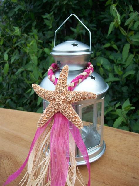 Beach Wedding Decor, Small Starfish Lantern Hangers