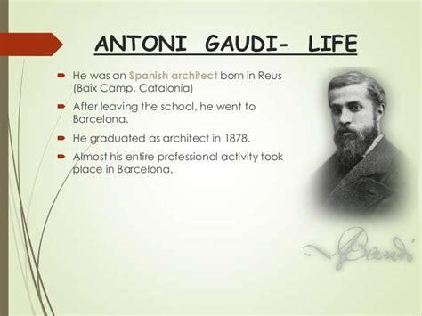 antoni gaudi biography in spanish antoni gaudi