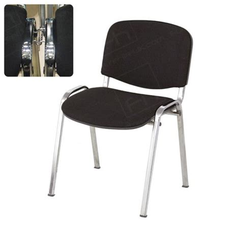 Black Stacking Chair With Links Hire   Chair Hire   London