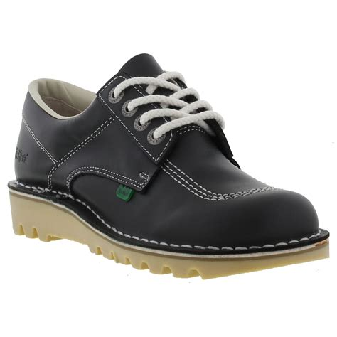 Kickers Traking Nevy kickers womens kick lo leather navy blue shoes size 4 8 ebay