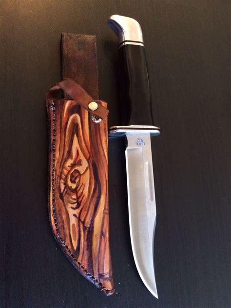 custom bowie knife sheaths buy a made custom leather buck knife sheath made to