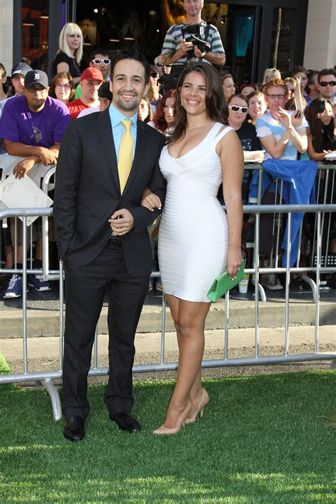 Lin Manuel Miranda and wife at the World Premiere of