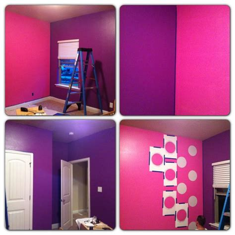 Pink And Purple Bedroom Ideas My Asked For A Purple Minnie Mouse Room And Room This Is The Painting Process My