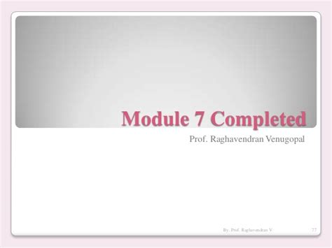 Mba In Tqm From Symbiosis by Vtu Mba Tqm 12mba42 Module 7