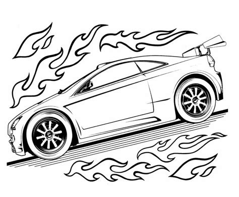 Hotwheels Four 1 White wheels speed turbo coloring page for