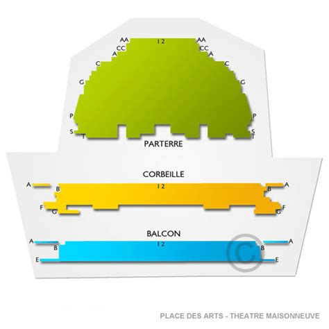place des arts seating chart theatre maisonneuve place des arts theatre maisonneuve seating chart