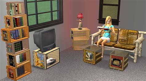 crate furniture mod the sims crate furniture