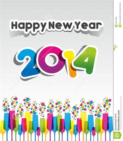 happy new year title vector colorful abstract happy new year 2014 card vector