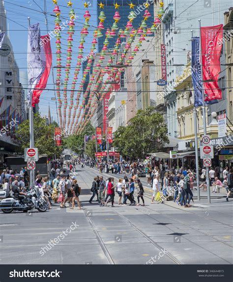 melbourne australia december 30 2014 pedestrians