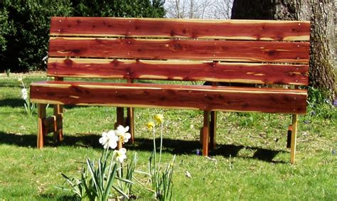 red outdoor bench cedar garden benches sliders church pews red cedar or redwood