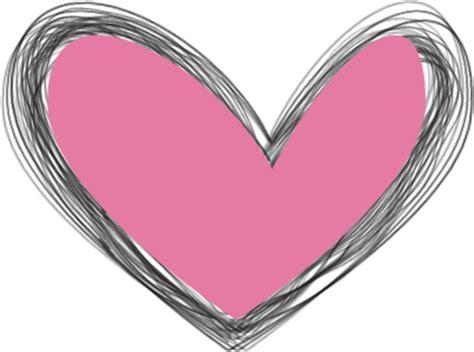 black pink heart scribbled black and pink heart clip art scribbled black