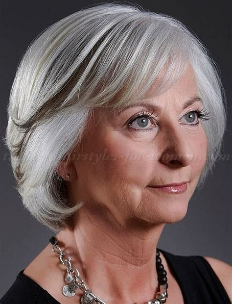 trendy bobs for women over 50 with thin fine hair short hairstyles for grey hair women over 50 hairstyle