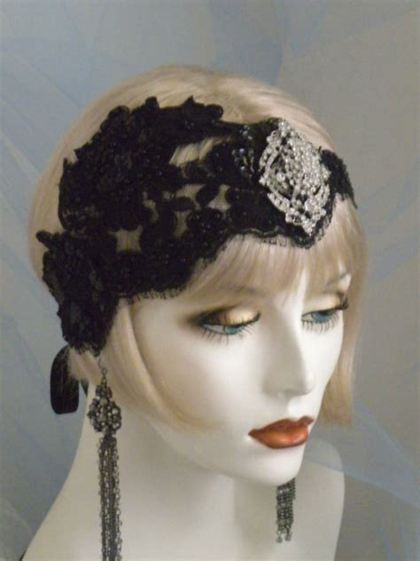 how to make flapper knot 1920s headpiece flapper headband black by