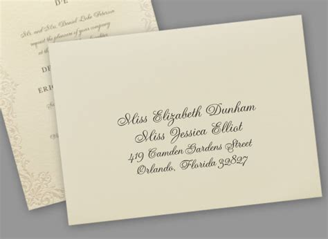 can you print addresses on wedding invitations addressing wedding invitations to same couples