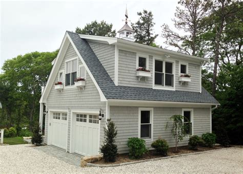 cape cod house plans with attached garage detached garage with deck loft traditional garage