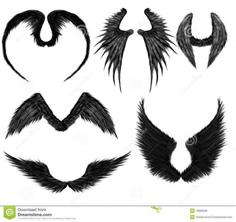 imagenes alas negras alas negras de los 225 ngeles imagen de archivo libre de