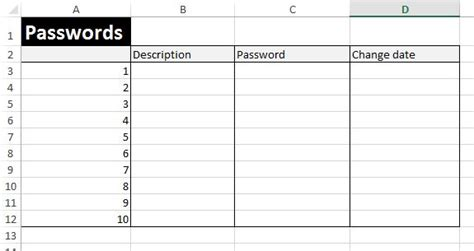 password manager spreadsheet template free excel exles downloadexceltemplate