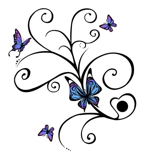 blue butterfly tattoo designs butterfly tattoos and designs page 446