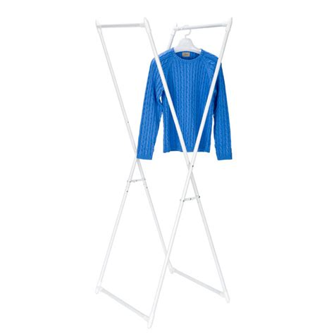Foldable Garment Rack by Folding X Frame Garment Rack The Container Store