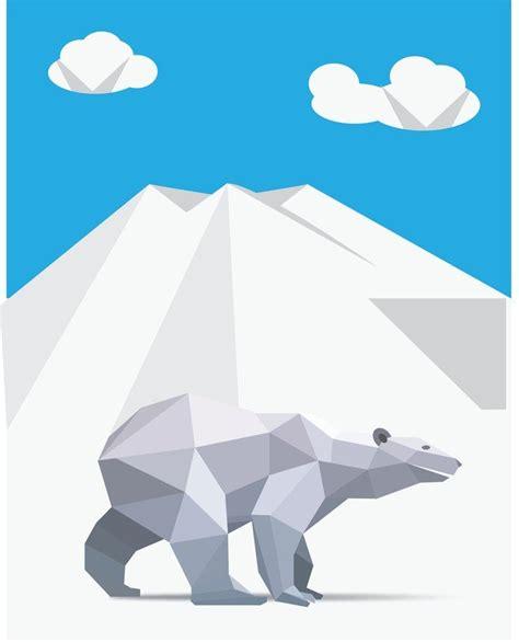 Origami Polar - free vector origami polar 벡터 그래픽 365psd