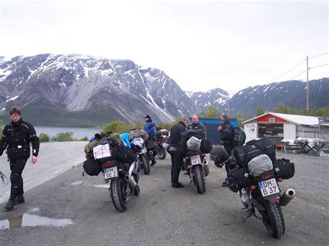 Motorrad überwintern Auf Seitenständer by Mit Sechs Motorrad Zum Nordkap
