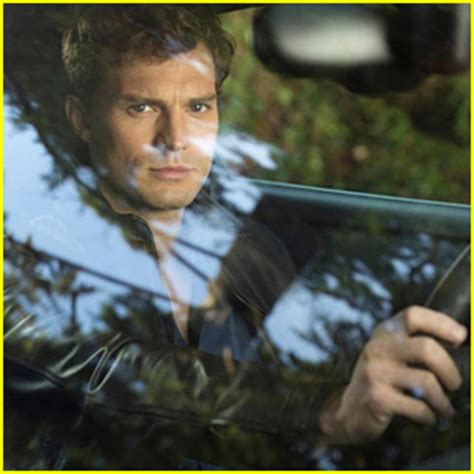 first look at fifty shades of grey leads as film pushed jamie dornan channels a sexy christian grey in first