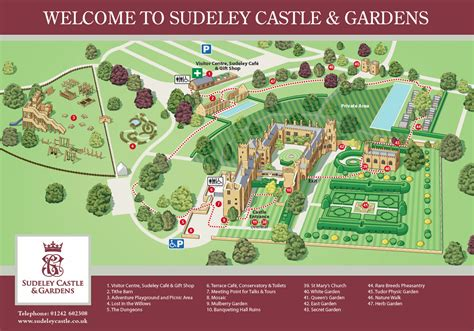 Homes Floor Plans With Pictures by Garden Map Sudeley Castle Amp Gardens