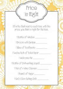 bridal shower game or wedding reception game price is