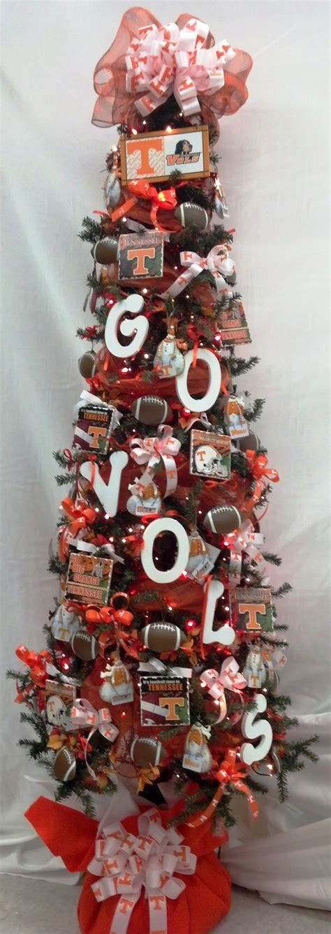 custom made tennessee vols christmas tree go vols