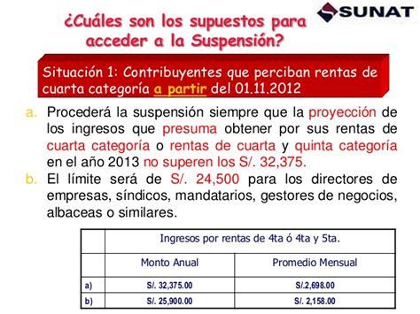 rentas de cuarta categoria limite 2016 limite para renta de cuarta suspension suspension de
