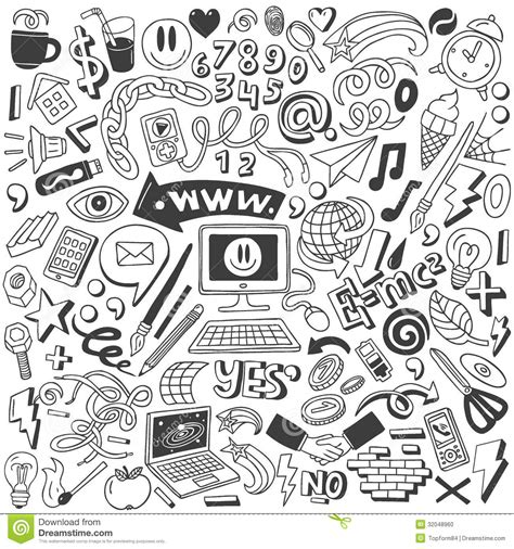 99 q to u animals collection stock images page everypixel web doodles collection stock vector illustration of chain