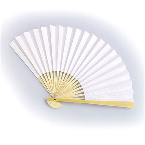 Folding Paper Fan - white paper folding fans lovely wedding decorations