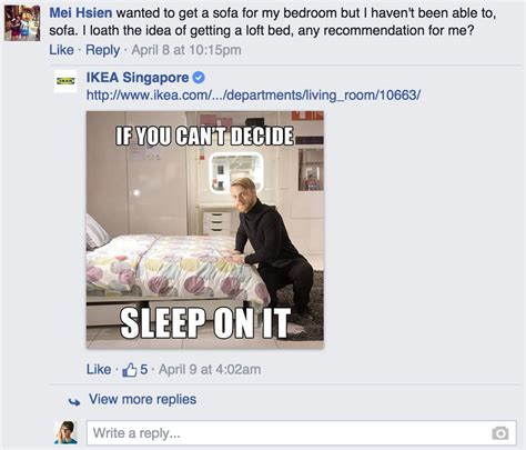 ikea puns ikea responds to customer questions on facebook with silly puns 13 pics pleated jeans