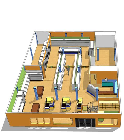 Small Grocery Store Floor Plan by Market Space Planning Interior Market Design Custom Ma
