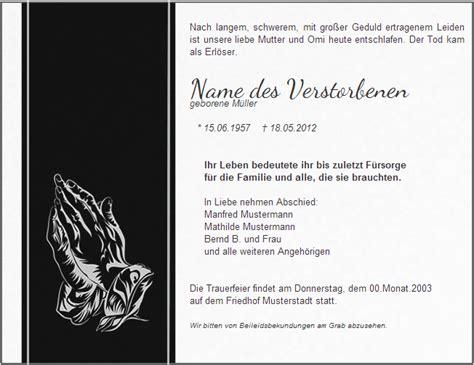 Muster Einladung Trauerfeier Todesanzeigen Bzw Traueranzeigen Ver 246 Ffentlichen Hilfe Zur Bestattung