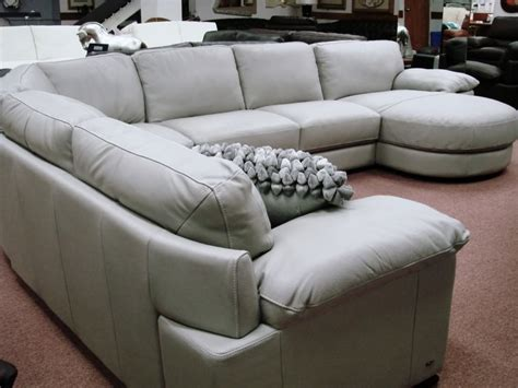 Used Sectional Sofas Sale by Natuzzi Editions Leather Sectionals B684 Cognac Leather