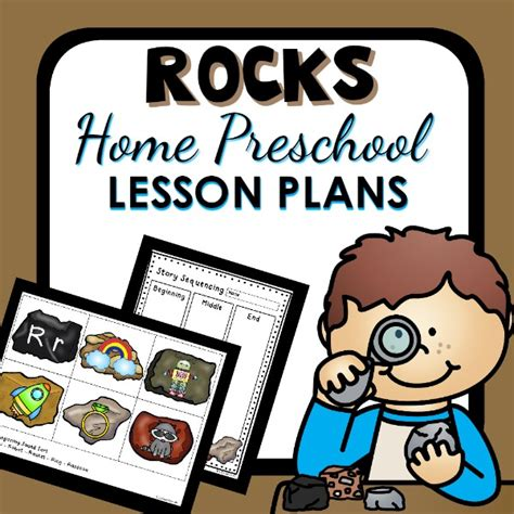 rock theme home preschool lesson plan home preschool 101
