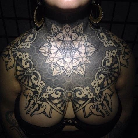 chest piece tattoo female 1000 ideas about chest on chest