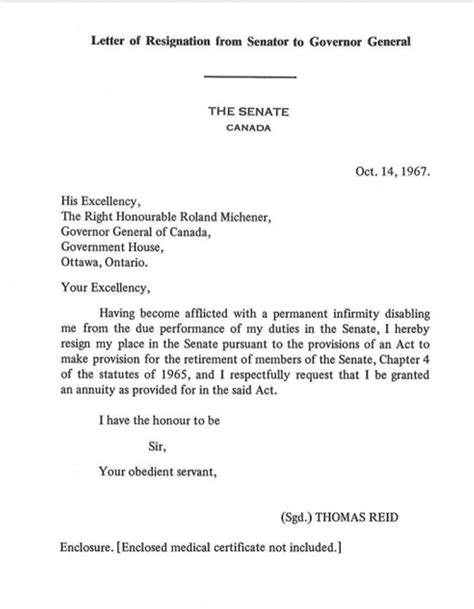 Resignation Letter Sle Canada senator meredith must trigger section 30 in order to
