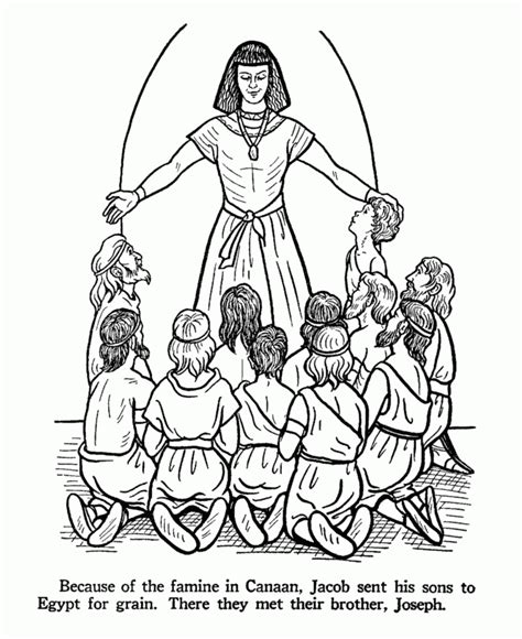 coloring pages of joseph and his brothers coloring pages joseph forgives his brothers coloring home