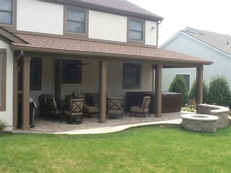 a new open porch patio and pit in gahanna oh by